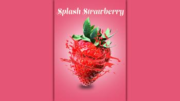 【Photoshop】苺から果汁が噴き出すPOP広告風のレタッチ